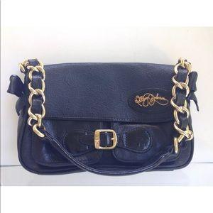 Betsy Johnson Designer Handbag - Black And Gold!